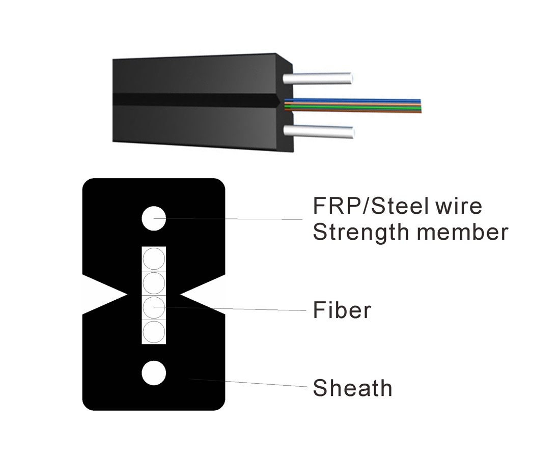 Ftth Drop Cable 4f Ftth Cable Optical Fiber Cable
